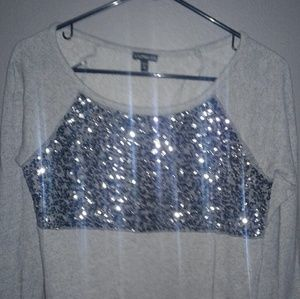 Express xs sweat shirt with sequins